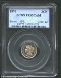Proof Three Cent Nickels: , 1876 3CN PR65 Cameo PCGS. Dazzling luster, deep mirrors, ...
