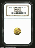 Commemorative Gold: , 1915-S $1 Panama-Pacific Gold Dollar MS66 NGC. Rich ...