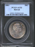 Coins of Hawaii: , 1883 50C Hawaii Half Dollar AU53 PCGS. The copper-gold ...