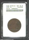1787 1C Fugio Cent, STATES UNITED, Eight-Pointed Stars--Corroded--ANACS. Fine Details, Net VG8. Newman 15-Y. Chocolate-b...