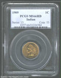 1909 1C MS66 Red PCGS. This crisply detailed, premium quality Gem is aglow in orange-red color. Perfect for final-year t...