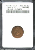 1909-S 1C --Cleaned--ANACS. XF Details, Net VF20. This Cent has been recolored, but has since retoned to an acceptable s...