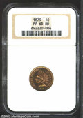 Proof Indian Cents: , 1879 1C PR65 Red NGC. Bright, even color and deeply ...