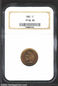 Proof Indian Cents: , 1882 1C PR66 Red and Brown NGC. A splendid, high grade ...