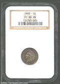 Proof Indian Cents: , 1883 1C PR66 Brown NGC. The fields turn iridescent powder-...
