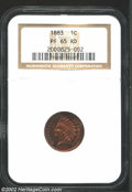 Proof Indian Cents: , 1883 1C PR65 Red NGC. Rich cherry-red color covers each ...