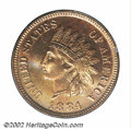 Proof Indian Cents: , 1884 1C PR67 Red PCGS. Housed in a first generation PCGS ...