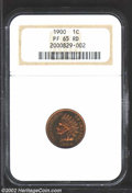 Proof Indian Cents: , 1900 1C PR65 Red NGC. Deeply mirrored with rich, even ...