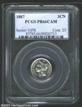 Proof Three Cent Nickels: , 1887 3CN PR66 Cameo PCGS. A boldly struck and brilliant ...