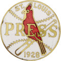 Baseball Collectibles:Others, 1928 World Series Press Pin (St. Louis Cardinals). The Yanks turnedthe tables on the Cardinals this October, avenging thei...