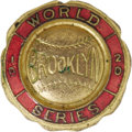 Baseball Collectibles:Others, 1920 World Series Press Pin (Brooklyn Robins). Ancient relic dates from an age when the Dodgers were named after Hall of Fa...