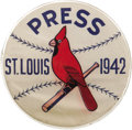 Baseball Collectibles:Others, 1942 World Series Press Pin (St. Louis Cardinals). The rather inelegant construction of this press pin (and the 1943 exampl...