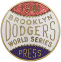 Baseball Collectibles:Others, 1941 World Series Press Pin (Brooklyn Dodgers). Odds are good thatthis pin was on the lapel of a sportswriter at Ebbets Fi...