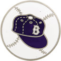 Baseball Collectibles:Others, 1955 World Series Press Pin (Brooklyn Dodgers). The happiest day inthe history of the borough. Classic pin was on site du...