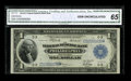 Fr. 717 $1 1918 Federal Reserve Bank Note CGA Gem Uncirculated 65. Some as made paper crinkles are noted on the right ha...
