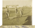 "Baseball Collectibles:Photos, 1910 Frank ""Home Run"" Baker Photographic Snapshot at Shibe Park.The premier slugger of the Dead Ball Era heads back to the..."