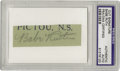Autographs:Others, 1930's Babe Ruth Signed Cut Signature. Every fine baseballautograph collection begins with a Babe, and this is a quality c...