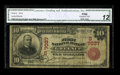 National Bank Notes:Kentucky, Greenup, KY - $10 1902 Red Seal Fr. 613 The First NB Ch. # (S)7037.A scarce Kentucky Red Seal $10 certified as CGA Fi...