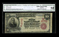 National Bank Notes:Colorado, Fountain, CO - $10 1902 Red Seal Fr. 613 The First NB Ch. #(W)6772. A just plain rare El Paso County bank with only fou...