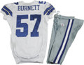 Football Collectibles:Uniforms, 2006 Kevin Burnett Game Worn Jersey with Pants. High-quality jersey from the 2006 season was worn by Dallas Cowboys lineba...