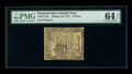 Colonial Notes:Pennsylvania, Pennsylvania October 25, 1775 9d PMG Choice Uncirculated 64 EPQ.Bold embossing and superb paper quality are both clearly ev...