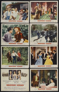 "Movie Posters:Romance, Raintree County (MGM, 1957). Lobby Card Set of 8 (11"" X 14""). Romantic Epic. Starring Montgomery Clift, Elizabeth Taylor, Ev... (Total: 8 Items)"