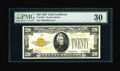 Small Size:Gold Certificates, Fr. 2402* $20 1928 Gold Certificate. PMG Very Fine 30.. The all important overprint on this Star note is still bold. The lig...