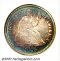1876 10C PR66 NGC. Ex: P. Kaufman. Type I Reverse, the only known hub variety of the proof 1876 Dime, and the more commo...