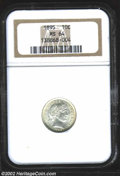 Barber Dimes: , 1895 10C MS64 NGC. The frosty textured surfaces are ...