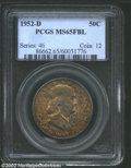Franklin Half Dollars: , 1952-D 50C MS65 Full Bell Lines PCGS. The obverse of this ...