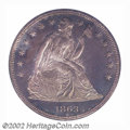 Proof Seated Dollars: , 1863 $1 PR65 PCGS. It is interesting to speculate how ...