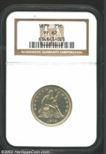 Proof Seated Quarters: , 1879 25C PR62 NGC. Deeply reflective with a light hazy ...