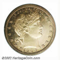 Proof Barber Quarters: , 1905 25C PR66 PCGS. Only 727 proofs were struck in this ...