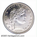 Proof Barber Quarters: , 1908 25C PR67 PCGS. An exceptionally attractive proof ...