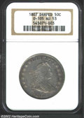 Early Half Dollars: , 1807 50C Draped Bust AU53 NGC. O-105, R.2. The obverse ...