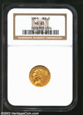 Indian Quarter Eagles: , 1911 $2 1/2 MS63 NGC. Richly detailed and lustrous with ...