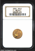 Indian Quarter Eagles: , 1926 $2 1/2 MS64 NGC. A lustrous and mildly prooflike ...
