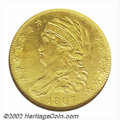 Early Half Eagles: , 1807 $5 Bust Left--Cleaned--ANACS. AU Details, Net XF40. ...