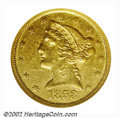 1858-C $5 AU50 NGC. The 1858-C is the most commonly available Half Eagle from this popular Southern mint. However, in te...