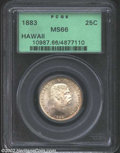 Coins of Hawaii: , 1883 25C Hawaii Quarter MS66 PCGS. Breen-8033. The first ...