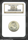 Coins of Hawaii: , 1883 25C Hawaii Quarter MS66 NGC. Wisps of gold patina ...