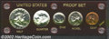 Proof Sets: , An Uncertified 1953 proof set housed in red Capital ...