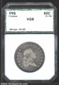 Additional Certified Coins: , 1795 50C Half Dollar VG8 PCI (VG8 Cleaned). O-116, R.5. ...