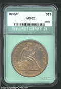 Additional Certified Coins: , 1860-O $1 Seated Dollar MS62 (MS60 Cleaned) Numistrust. ...