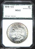 Additional Certified Coins: , 1878-CC $1 Morgan Dollar MS62 PCI (MS61). Struck from ...