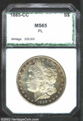 Additional Certified Coins: , 1885-CC $1 Dollar MS65 Prooflike PCI (MS64). Sharply ...