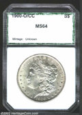 Additional Certified Coins: , 1900-O/CC $1 Dollar MS64 PCI (MS63). VAM-7. The upper ...