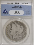 Morgan Dollars: , 1895-O $1 --Scratched--ANACS .Good 4 Details. NGC Census: (25/2689). PCGS Population (10/2858). Mintage: 450,000. Numismedia...