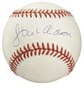 Autographs:Baseballs, Hank Aaron Single Signed Baseball. Hammerin' Hank brings us asplendid example of his Hall of Fame autograph, which has her...