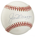Autographs:Baseballs, Joe DiMaggio Single Signed Baseball. Joe D's highly sought-aftersignature appears here in exceptional form -- stunning swe...